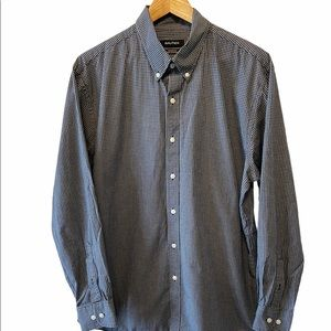 MENS NAUTICA Athletic Fit Blue Check Button Up